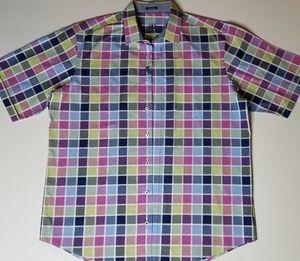 Men's Bugatchi Plaid Button Up Shirt